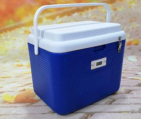 En Deportes Y Aire Libre Cajas Frías Portátiles Cajas Grandes Y Frías para Alimentos Manija Plegable para El Hogar Viajes 27L Camping Cool Box Bag,Blue: Amazon.es: Hogar