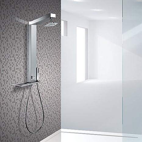 Gemma Q columna de ducha sin grifo mezclador: Amazon.es: Hogar