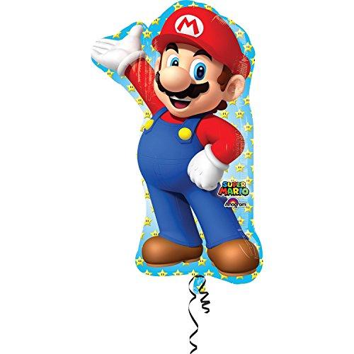 [Anagram 33 in. Mario Bros Shape Foil Balloon] (Donkey Kong Costume For Women)