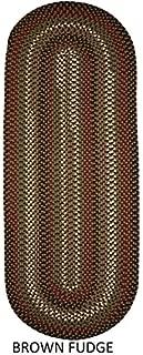 product image for Rhody Rug Jamestown Indoor/Outdoor Braided Rug Brown Fudge 2' x 8' Runner Reversible 8' Runner Runner Runner