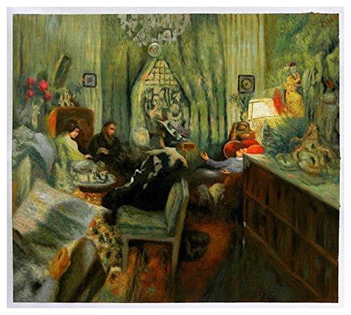 (The Salon of Madame Aron - Edouard Vuillard hand-painted oil painting reproduction,interior conversation scene,living room large wall art)