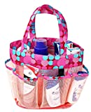 Kedera Portable Mesh Shower Caddy, 8 Basket Tote Bathroom College Dorm, Large Shower Caddy Bag Outdoor Camping Gym