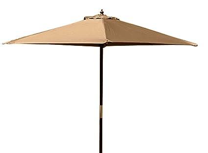3.5M Wide Black Superb Quality Large Hardwood Garden Parasol Umbrella