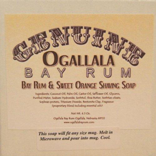 Two (2) Genuine Ogallala Bay Rum, Bay Rum & Sweet Orange Shaving Soap - Each Puck 4.5 oz - Sweet Orange Soap