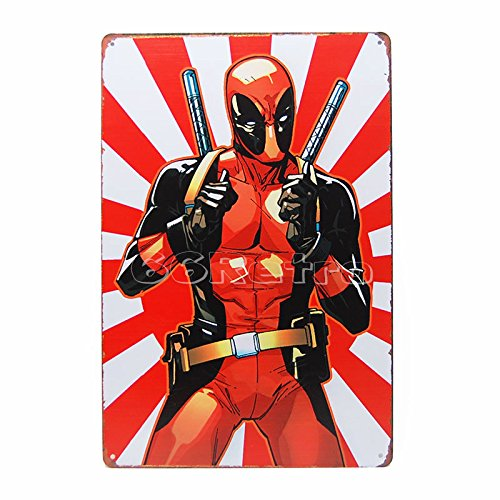 (Deadpool (0405003), Metal Tin Sign, Wall Decorative Sign By 66retro)