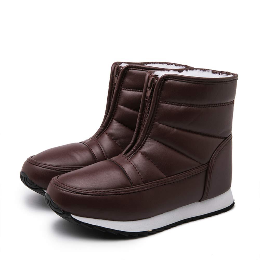 Frauen Schneestiefel Winter Schnee Stiefel Damen Leder Hohe Stiefeletten Outdoor Wanderschuhe Reißverschluss Weibliche Wanderer Anti Slip Paar Schuhe