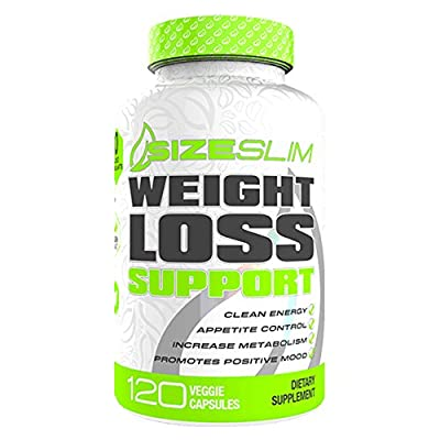SizeSlim | Weight Loss Support | Fat Burner Thermogenic & Energy Enhancer | All Natural Botanical Ingredients, Vegan and Gluten Free | No Added Stimulants - 120 Capsules