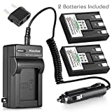 Kastar Battery (2-Pack) + Charger for Canon NB-3L, PowerShot SD10, SD100, SD110, SD20, SD500, SD550, Digital IXUS 700, 750, i5, Digital 30, 30a, 600, 700, D30, D30a, D53Z, IXY Digital L, Digital L2