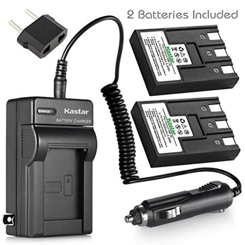 Kastar Battery (2-Pack) + Charger for Canon NB-3L, PowerShot SD10, SD100, SD110, SD20, SD500, SD550, Digital IXUS 700, 750, i5, Digital 30, 30a, 600, 700, D30, D30a, D53Z, IXY Digital L, Digital L2 ()