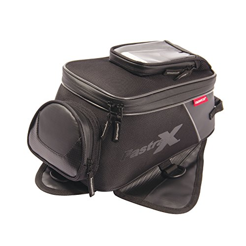 Dowco Fastrax 04891 Backroads Series: Water Resistant Reflective Motorcycle Tank Bag, Black, 7.9 Liter Capacity (Designs Troy Shoei Lee)
