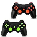 2 Pack PS3 Wireless Controller, Dualshock Sixaxis Gamepad Remote for Sony PlayStation 3