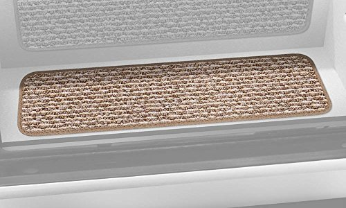 Prest-O-Fit 5-3092 Decorian Step Huggers For RV Landings Butter Pecan Brown 10 In. x 23.5 In. by Prest-O-Fit