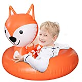 Pool Float Swimming, Inflatable Float Ring for Kids, Children Party Summer Pool Float, Beach Float Ring for Toddler Girl Boy, Pool Inflatable Raft for Pool parties, Bath time, and Decorat (Orange Fox)