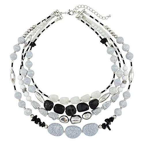3 Strand Necklace Beaded - Bocar Multi Layer 4 Strand Statement 17