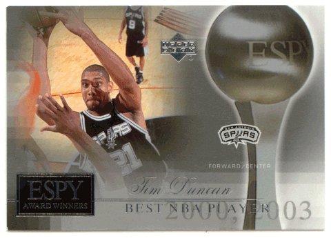 Tim Duncan (Basketball Card) 2005-06 Upper Deck ESPN ESPY Award Winners # ESPY-TD -