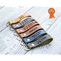 Custom Leather Keychain | Personalized Keychain - USA