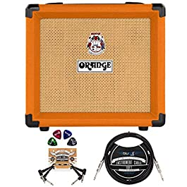 Orange Amps Crush 12-12-Watt Guitar Combo Amplifier with 3 Band EQ Bundle with Blucoil 10′ Straight Instrument Cable (1…