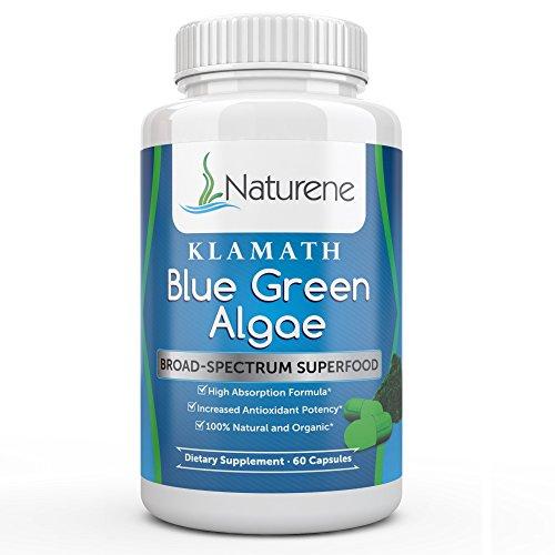 Naturene Klamath Blue Green Algae - super large spectre avec plus de puissance que la spiruline ou Chlorella - haute Absorption Formula - 60 Capsules