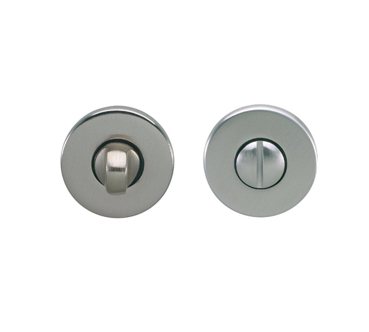 Chrisligne ECDR30/37V - Rosoni da serratura, set da 2, colore: Cromato