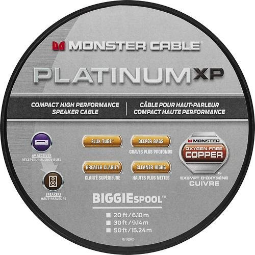 Clear Compact Speaker Cable Jacket - Monster - Platinum XP Clear Jacket MKIII 20' Compact Speaker Cable - White/Copper