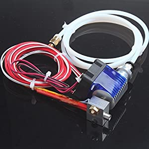 DIKAVS For 3D V6 Hot End Full Kit 1.75mm 12V Bowden/RepRap 3d Printer Extruder Parts Accessories 0.4mm Nozzle from DIKAVS