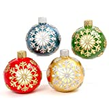 4 Pack Giant 13'' Tall Electric Lighted Poly-Resin Jumbo Ornaments Yard Art Decor