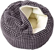 Pet Dog Cat Cave Bed, Super Soft Pet Dog Cat Cave Bed House Deep Sleep Winter Round Sleeping Kennel Cushion fo
