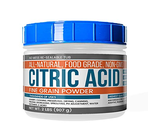 Citric Acid (2 lb (32 oz)) by Earthborn Elements, Resealable Tub, All-Natural, Highest Quality, Pure, Food Grade, Non-GMO, Chemical-Free