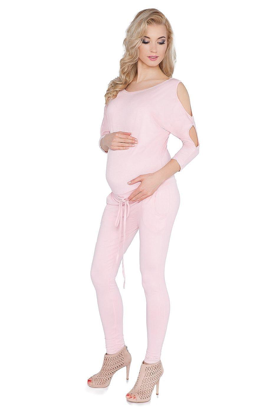 Hallo, Mom Damen Schwangerschafts Jumpsuit mit Taschen Boot-Ausschnitt Offene Ä rmel Schwangerschaft Playsuit Grö ß en 8– 14 1081 O-1081C