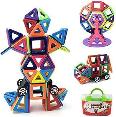 Magnetpro Bloques de construcción magnéticos Niños 108 Piezas Juguetes magnéticos, Juguetes educativos 3D, Regalo de cumpleaños para niños para niños ...