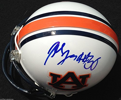 Auburn Tigers Signature Helmet (DEE FORD SIGNED AUBURN TIGERS HELMET KANSAS CITY CHIEFS PROOF COA J2)