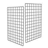 Pulatree Grid Photo Wall(Set of 2), Grid Panel Decorative Iron Rack Clip Photograph Wall Hanging Picture Wall, Ins Art Display PhotoWall 2 Packs 25.6 x17.7inch (Black) Review