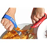 Daffo Green Eating Aids , Adjustable Hand Strap Holder . 2 Packed, hold Onto Utensil, Pen,Toothbrush, Pencil for Hand Tremors, Parkinson, Muscle Weakness, Arthritis,Post Chemo Therapy. Stroke, ALS Patients
