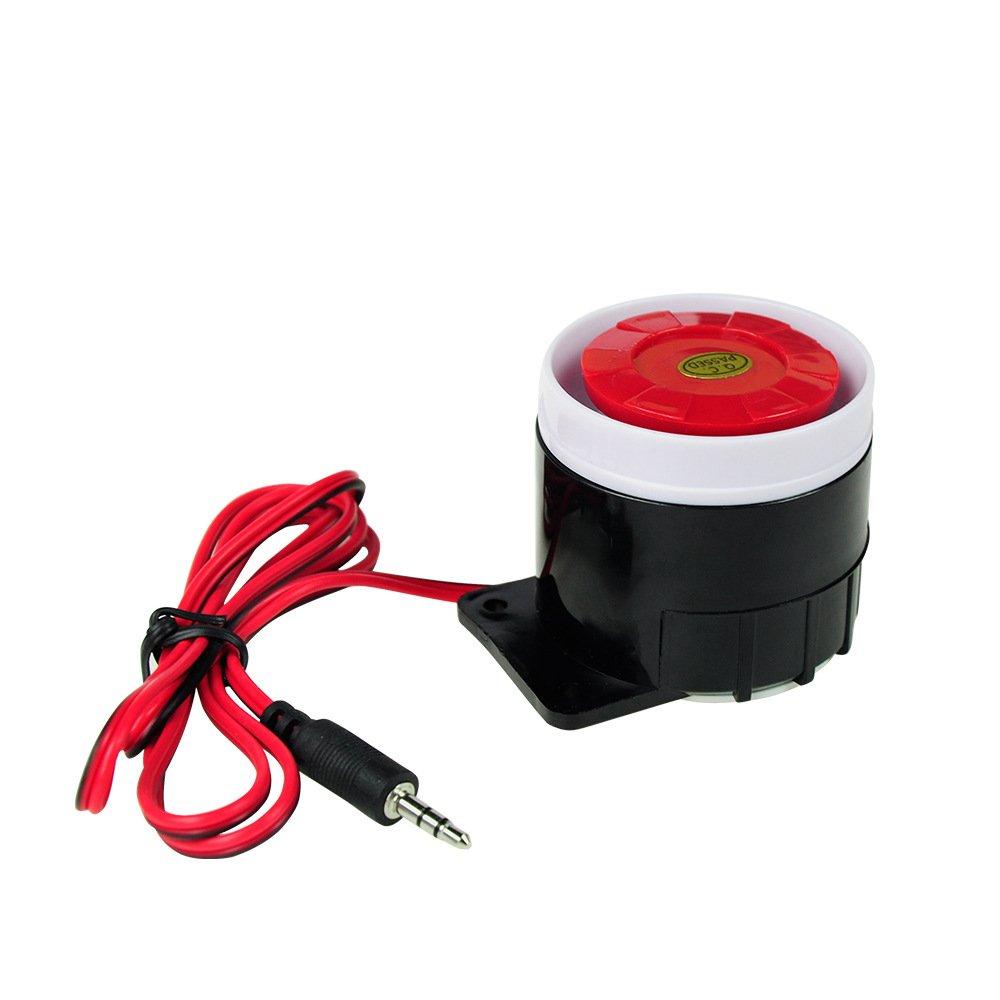 High Dezibel Mini Horn Buzzer Alarm Anti Diebstahl Gerät Police Sirene , black