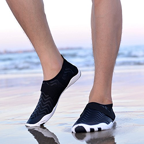 Barfuß Damen Wassersport Badeschuhe Erwachsene Schuhe Schuhe Surfschuhe Schwarz Weich JACKSHIBO Schwimmschuhe 5Cw4Yqxq