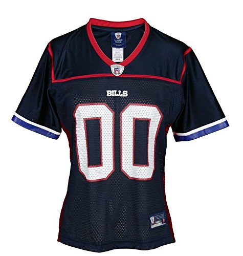 Buffalo Bills NFL Womens Replica Team Jersey, Navy Blue & Red (X-Large, Navy Blue / Red)