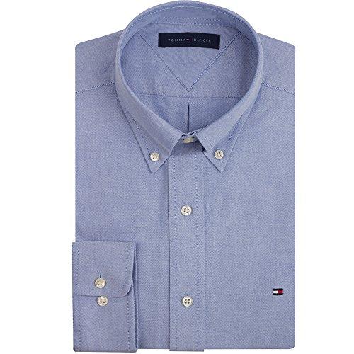 Tommy Hilfiger Slim Fit Heritage Oxford Dress Shirt, Blue, 14.5