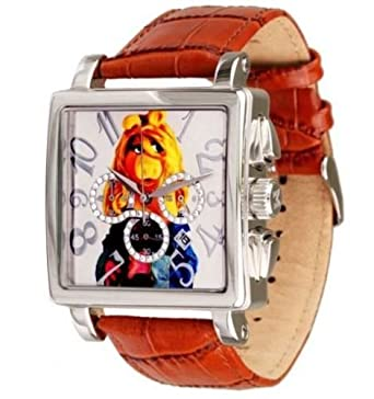 Disney Damen Armbanduhr Miss Piggy Chrono Silver