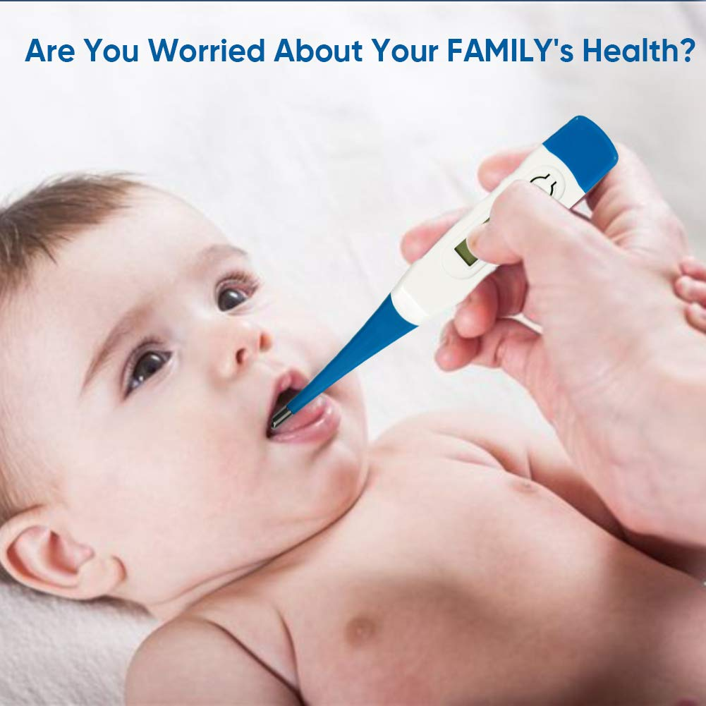 Digital Themometer for Adults LCD Oral Themometer for Fever