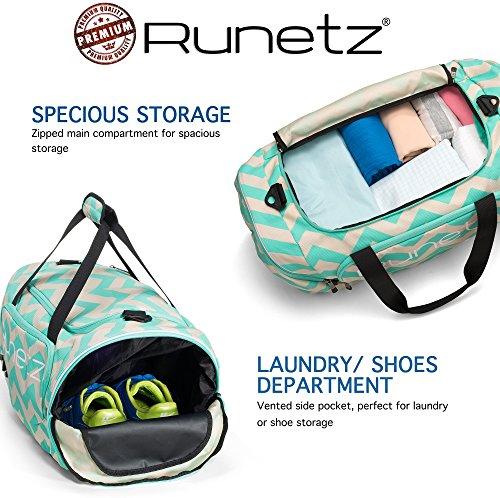 Runetz Gym Bag for Women and Men Duffle Bag with Wet Pocket, Travel ... 330ddf6606