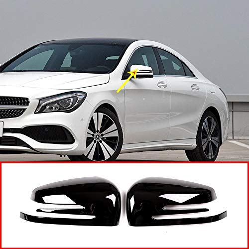 for Mercedes Benz A W176 B W246 C W204 E W212 CLA w117 CLS w218 GLK X204 GLA Class X156 ABS Chrome Plastic Side Rearview Mirror Cap Cover Trim Gloss Black