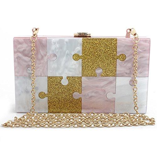 Diamante Purse Small Bag Clutch Evening Clutch Ladies Handbag Crossbody Handbag Party Bridal Elegant Wedding Pink Bridal nCq4vawxR