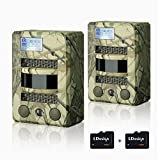 Hunting Trail Camera, 2 Pcs LDesign Waterproof Game / Wildlife Surveillance / Home Security Camera with 2 TF Card, Wide Angle Infrared Night Vision, 720P Glow-26PCs IR LEDs & PIR Sensor,0.8's Trigger