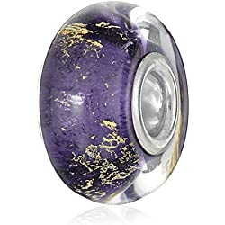 Chamilia Gilded Age Purple Murano Bead Charm