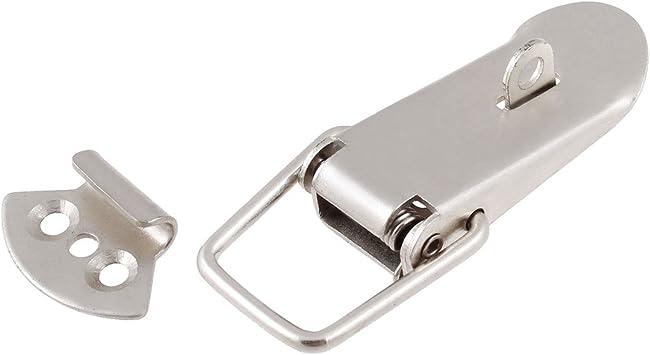 Aexit Caja de herramientas Caja de cofre Tono plateado Sorteo de palanca de acero inoxidable 55 (model: Y6939IV-4000ZD) mm de largo: Amazon.es: Bricolaje y herramientas