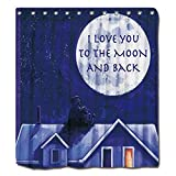 Shower Curtains Moon Watch Shower Curtain polyester shower curtain By YYT 72