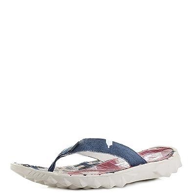 8d5a73d6d436 Mens Dude Shoes Sava Canvas Incas Red Comfort Flip Flops SIZE 10 11   Amazon.co.uk  Shoes   Bags