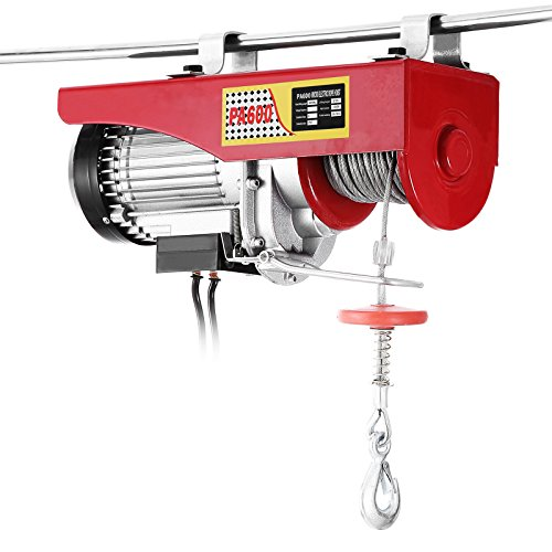 Popsport Electric Hoist 1320LBS Electric Hoist Crane 110V 1050W Lift Electric Hoist Crane Overhead Garage Winch with Remote Control Auto Lift (1320LBS)