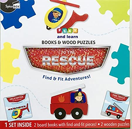 Amazon PLAY AND LEARN BOOKS WOOD PUZZLES FIND FIT ADVENTURES Toys Games