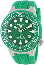 Swiss Legend Women's 11044D-08 Neptune Green Dial Green Silicone Watch